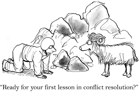 ready for your first lesson in conflict resolution?