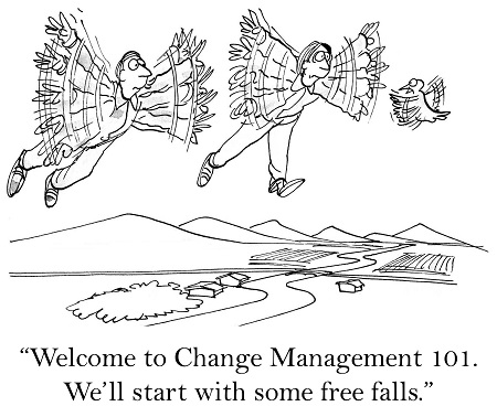 Welcome to Change Management 101. We'll start with some free falls.