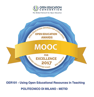 This course is the 2017 winner, for MOOC category, of OER & Project Awards for Open Education Excellence, by the Open Education Consortium.